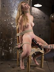 Ashley is the real deal, the truest of bondage models, the one in a million that lives for the bondage and torment and could care less about the orgasms. She wants the most brutal and grueling bondage that will challenge her and push her limits as far as they will go. Ashley settles into the ropes and her pussy starts to drip with the anticipation of suffering more at the hands of The Pope.