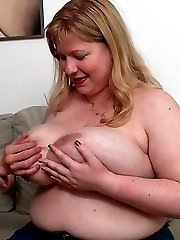 The beautiful BBW blonde gets a good fucking from her man and the sex is sizzling