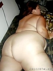 All American busty BBW salutes the flag nude