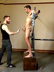 Lean and muscular stud Justin Beal joins us for the first time at KinkMen. We start this...