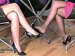 Watching two nice ladies in high heels is one of the great pleasures of having a shoe fetish....