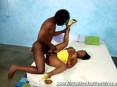 Monster titty sista gets licked and fucked by a black stud