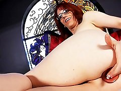 Sexy Wendy toys her ass amp strokes