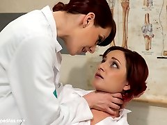 Welcome Phoenix Askani to Whipped Ass! Phoenix enjoys lesbian BDSM and plays a pre med student who\'s also the president of The Purity Ring, a group of students who abstain from sex before marriage. When Phoenix fails to get into med university her professor, Maitresse Madeline gives her an easy out, follow along with her hidden kinky sadistic lesbian games and she\'ll get her into medical school. Besides, it\'s only having sex with a woman and she would still have her virginity, rightttt? Phoenix is handcuffed, spanked, made to lick Madeline\'s asshole and pussy, flogged, stripped with an acrylic cane, nasty clover clamps on her nipples and strap on ass fucked while bound in black leather straps!