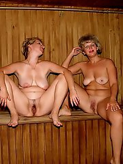 Babes gets naked at sauna pictures