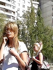 Free up skirt view of street amateur