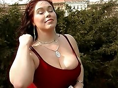 Plump juicy girl with very big boobs
