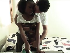 Black girlfriend Shanice bends over and gets pussy dominated