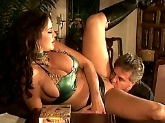 Banging a sexy brunette babe in boots