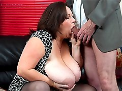 Horny salesman suck and fucks Roxy J big boobs and wet pussy