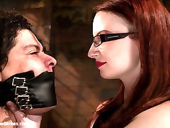 Stigma is one of the strongest players in BDSM. He was lucky last year to have first served The Princess. Then he was honored with the opportunity to serve Maitresse. It's hard to top that powerhouse of female supremacy so we invite Miss Adams in to bring Stigma to his knees like only Miss Adams is able to do. 