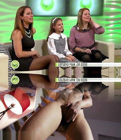 Russisch Reife Strumpfhosen Füße