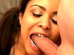He begs for a blow job. She does with her teeth, sinking them deep into his member. Maybe he'll at least be on time for her next delivery.