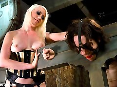 Lorelei Lee fucks her slave boys ass then makes him sweep up!