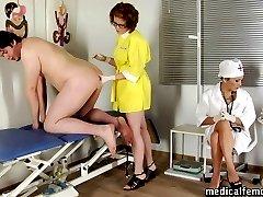CFNM checkup with wicked femdom pranks