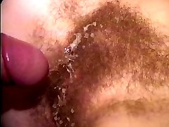 Young girl gets her natural redhead very hairy pussy digged