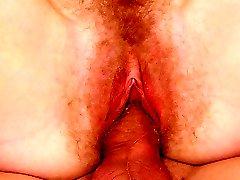 Tongue slathering of her bird!