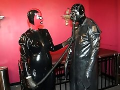Latex couple for lovemaking