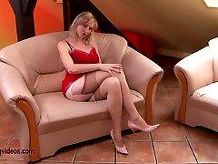 Sherry Railey girdle tease