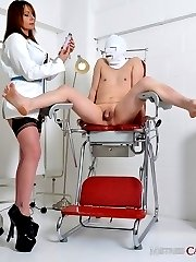 Mistress Carly attempts to suck a huge amount of spunk from her slave's balls, and then punishes him with her big strapon for a poor effort