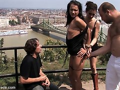 Today we add Sabrina Yummy to our getting bigger list of European hotties who are willing to get strapped up, caressed by strangers, and poked in public. Sabrina looks so torrid getting her ass pummeled while in bondage, I guess that is why so many studs stuck around to see her.