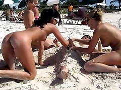Sexy nudists having fun
