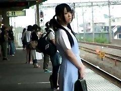 Japanese AV Model spreads legs in train next PublicSexJapan.com