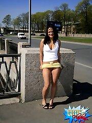 Ravenhead hides behind bridge post to pose naked
