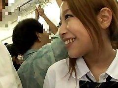 Japanese AV Model strokes dick and touches PublicSexJapan.com