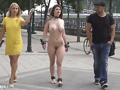 The lovely and voluptuous Lucia Love is back for more pain and humiliation.  Antonio Ross and Nikki Thorne start by taking Lucia outside for a walk by leash and cuffs completely nude, only stopping occasionally for a flogging.  Later they meet Steve Holmes at a club, and an all out fuckfest breaks out.  Steve and Antonio both take turns fucking and tormenting Lucia and Nikki Thorne gets so turned on she fucks all three of them.