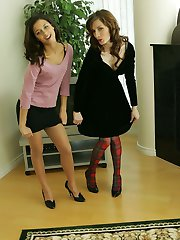 Minnie and Kylie striptease