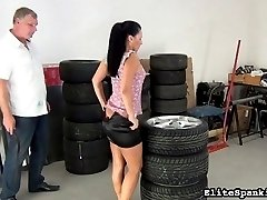 Oh dear Katty. When will this beauty learn her lesson. Her spanking addiction keeps her coming back for more.