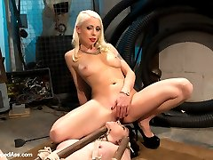Welcome local model Coral Aorta to Whipped Ass. Coral enjoys pain and likes to be challenged by bondage and punishment. Lorelei Lee treats her like nothing but a piece of meat with three holes to fill. Will she train this local slut into the perfect lesbian fuck hole? Interesting bondage, nipple clamps, whipping, spanking, caning, dildo gag, butt plug, lesbian strap-on sex and fisting are all included!