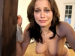 Hot tears running down this girl's face - Severe Caning!