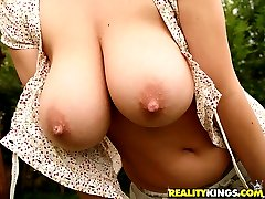 Super hot plump ass big succulent tits babe gets her body drilled hard at the pool in these hot outdoor fuck pics