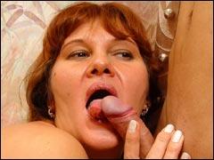 Lustful mature Sara riding young hard cock