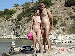 Amateur nudists ambling naked