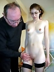 Corporal punishment for a maid caught watching porn