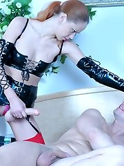 Freaky chick mastering her strap-on fucking skills with her eager neighbor