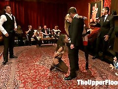Emma Haize is promoted to House Slave and made to take charge of gorgeous newbie Janice Griffith during a Saturday Night Upper Floor BDSM Sex Party. The two house sluts endure beatings and orgasms in equal measure before they are face fucked and have their pussies reamed with huge hard cock. Haize does such a good job of training the newbie that she is fucked in the ass as a reward.The Upper Floor delivers the best Kinky Threesome Sex on the Web!
