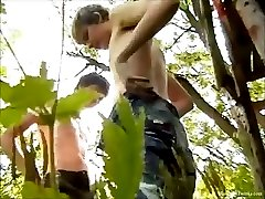 Raunchy Boys Dusan And Jozef Outdoor Wanking And Sucking