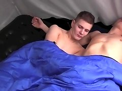 Two Guyz have Rubber Free Fun in the Tent !