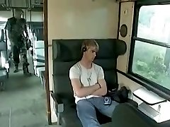 hot gay session in a train