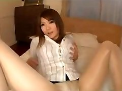 Pantyhose Asian Legs Tease With Underpants
