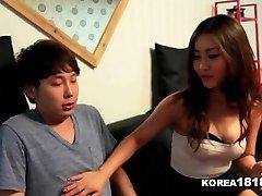 KOREA1818.COM - Lucky Virgin Fucks Hot Korean Stunner!