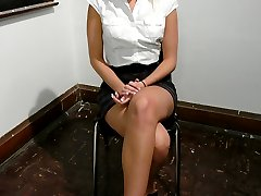 Kacey Villainess is failing her French class and is desperate for a passing grade on her final exam.  Her clever teacher, Sandra Romain, tricks Kacey into being sexually used to fulfill her own kinky desires.  A great forced lesbian theme with good spanking, humiliation, forced pussy licking and suspension bondage.