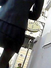 Dirty secret up girl's skirt