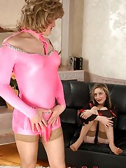 Lustful sissy and strap-on armed honey getting a taste for forbidden temptation
