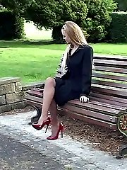 A pretty lady who wears high heels is such a lovely sight. As Claire sets you're pulse racing your breathing is shortened and your blood pressure is raised, as you stiffen for the ultimate feeling of her sexy heels
