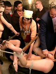 Slutty Midwestern fuck-toy Marley Blaze gets a pounding in her first Public Disgrace. Orlando teaches this stupid cow some obedience in extreme bondage. Mr. Pete fucks her ass and cums on her pussy. Even Princess Donna wants in on the action, smothering her with tits and ass before breaking out the cattle prod. Sensory deprivation, rough sex, humiliation, corporal, submission.